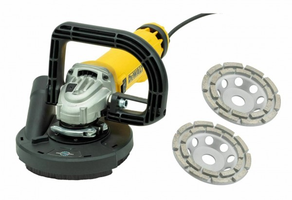 DEWALT/ TRONGAARD BETONSCHLEIFER-SET / SANIERUNGSFRÄSE-SET / WINKELSCHLEIFER-SET 1400W 125MM