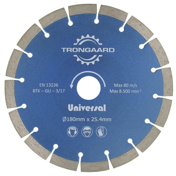 TRONGAARD DIAMANT-TRENNSCHEIBE 180mm/25.4mm - Universal Standard