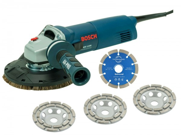BOSCH / TRONGAARD BETONSCHLEIFER SET 1100W SANIERUNGSFRÄSE SET 125 125mm