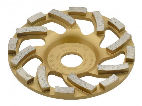 TRONGAARD PREMIUM DIAMANT SCHLEIFTELLER / SCHLEIFTOPF 125MM / 20mm L-SEGMENT
