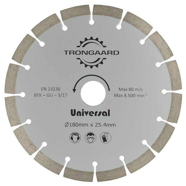 TRONGAARD DIAMANT-TRENNSCHEIBE 180mm/25.4mm - Universal Advanced