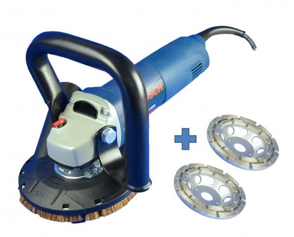 Bosch / Trongaard Betonschleifer-Set / Sanierungsset 125mm 1400W
